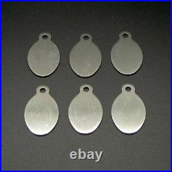 6 Stainless Steel Engravable Key Tags, Style 1, Oval GRS ITEM #003-300