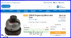 GRS Engraving Block and Vise Jewelry Tools GRS Standard Engraving never used