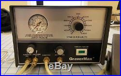 GRS GRAVERMAX-2 QC Handpieces-Foot Pedal USED AND WORKING CONDITION