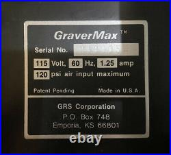 GRS GRAVERMAX AND 1 HANDPIECE GRS TOOLS As Is Parts Or Repair