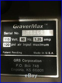 GRS GRAVERMAX AND PEDAL with3 HANDPIECES IN WORKING CONDITION USED GRS TOOLS USED