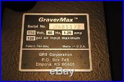 GRS GraverMax Engraving Machine Graver Max set metal tool hand piece part lot