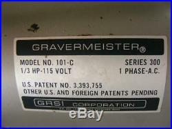 GRS Gravermeister 101-C series 300 engraving
