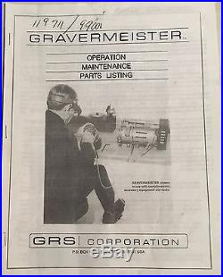 GRS Gravermeister GF500 Engraving Tool with 915 hand piece and high speed valve