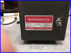 GRS Gravermeister model GG500 seria#02015 with foot pedal and 3 hand pieces