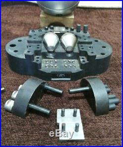 GRS Microblock Ball Vise Used Very Nice Many Accessories Lapidary Stone Set