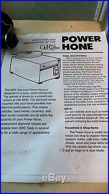 Grs Power Hone With Attachment And Three Diamond Wheels Free Shipping