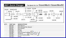 GRS QC Handpiece 801 #004-801 $345 Retail