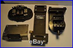 GRS Swivel Vise with Adjustable Height bracket and bench mount, accessory set