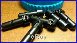 GRS TOOLS (Made in USA) QC (Quick Change) 6 Engraving Tool Holders (Blue)