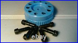 GRS TOOLS (Made in USA) QC (Quick Change) 7 Engraving Tool Holders (Blue)