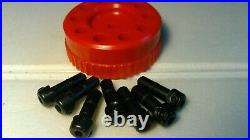 GRS TOOLS (Made in USA) QC (Quick Change) 7 Engraving Tool Holders (Red)