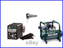 GRS Tools 004-965 Gravermach AT with Rolair Compressor and Airtact Handpiece