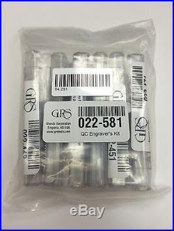 GRS Tools 022-581 Engravers QC Graver Kit