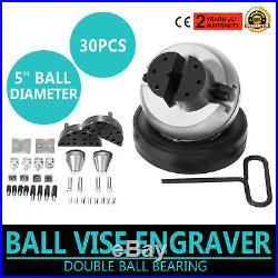 GRS Tools Standard Ball Vise Engraver Engraving Tool with 30 Piece Attachment
