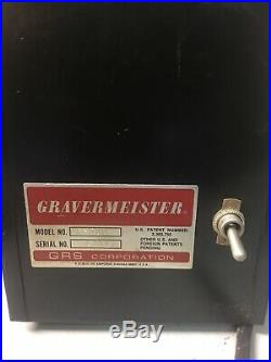 Gravermeister Engraving Machine GF 500 With Pedal And Engraver Tool GRS Corp Works