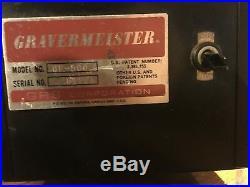 Gravermeister engraving machine. GRS ENGRAVING MACHINE