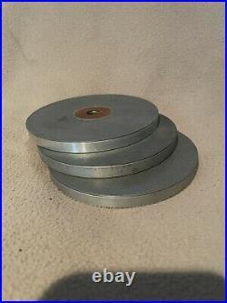 Grs Accu-finish Diamond Wheel Sharpening Set 0f 3 5 Discs Setters Engraver Used