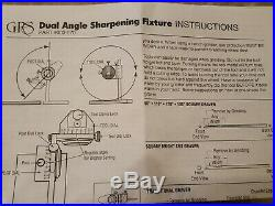 Grs Tools Dual Angle Sharpening Fixture New In Box With Instructions # 003-570