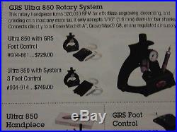 Grs tools. Utra 850 high speed rotary system