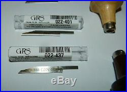 HSS round, onglette & flat graver used by jewelry/copper artist
