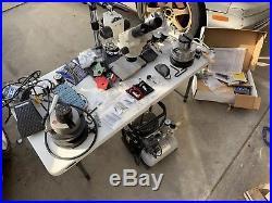 Lindsay Airgraver Engravers Lot Of 3, 2 Ball Vise Grs, 2 Foredom Flex Shaft