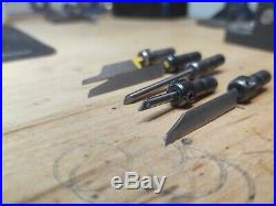 Lot of 5 HSS Vallorbe GRS C-Max Quick Change Gravers With GRS Handle $135