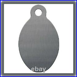 Stainless Steel Engravable Key Tag, Style 1, Oval GRS ITEM #003-300