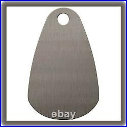 Stainless Steel Engravable Key Tag, Style 2, Rounded Teardrop GRS #003-301