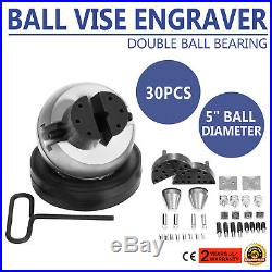 Standard Block Ball Vise Engraver Engraving Tool with 35 Piece Attachment GRS Tool