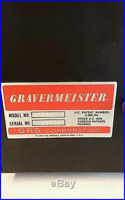 Vintage GRS Gravermeister GF500 Powers up Running Unable to Test Estate