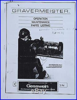 Vintage Gesswein GRS Gravermeister Engraving Handpiece for Setters & Engravers